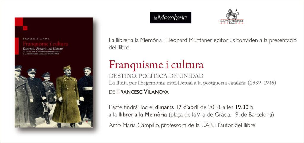 convit_franquisme i cultura